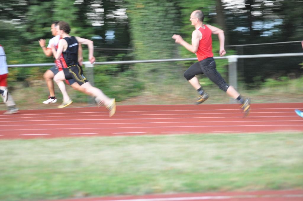 Mario Krause beim 200m-Sprint