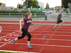 Katharina Hassemer und Mario Krause beim Sprinten