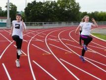 Linus Erlekamp und Katharina Hassemer beim Sprint-ABC